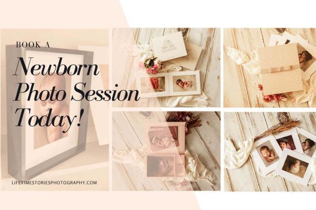 book a newborn photo session