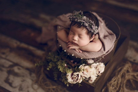 safety is a newborn photography trick