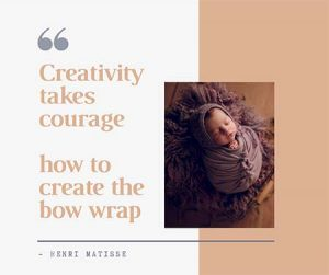 Brisbane newborn photographer -ho to make the bow wrap