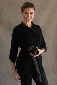 Victoria Burcusel with her camera