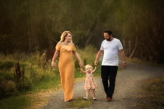 Valentines day family photoshoot walking together